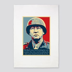 George S. Patton 5'x7'Area Rug
